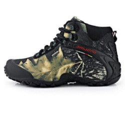New fashion waterproof canvas hiking shoes boots Anti-skid Wear resistant breathable fishing shoes  climbing high shoes - Safaryworld Camping Fishing - Hiking Shoes - Safaryworld.com