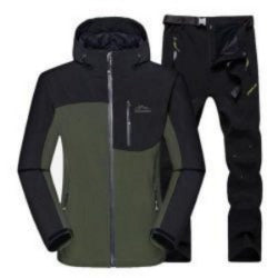 Male Outdoor Hiking Camping Sports Waterproof Hunting Jackets Pants Suit Moutain Climbing WIindproof Skiing Jacket Set HMC0003-5 - IKAI Outdoors - Hiking Jackets - Safaryworld.com