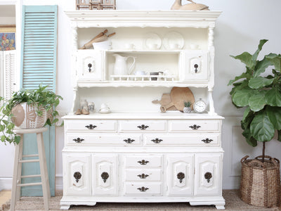 Shabby Chic Farm House Vintage Hutch / Cabinet No83 - ShopGoldenPineapple