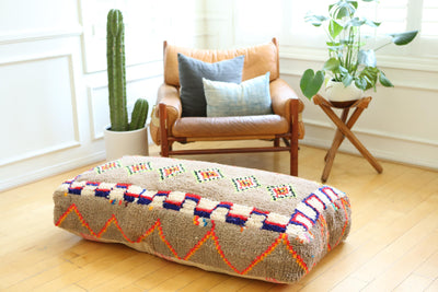 Double Moroccan Floor Pillow Pouf No LP6 - ShopGoldenPineapple