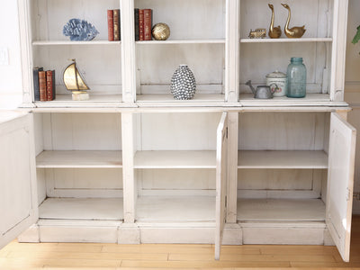 Shabby Chic French Provincial Vintage Book Shelf / Hutch with Key No68 - ShopGoldenPineapple