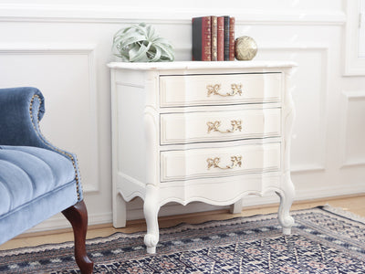 Shabby Chic French Provincial Vintage Single NightStand No89 - ShopGoldenPineapple
