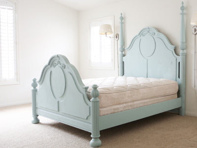 Shabby Chic French Provincial Vintage Queen Size Bed Frame No69 - ShopGoldenPineapple