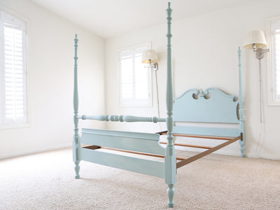 Shabby Chic French Provincial Vintage Bed Frame Full Size No81 - ShopGoldenPineapple