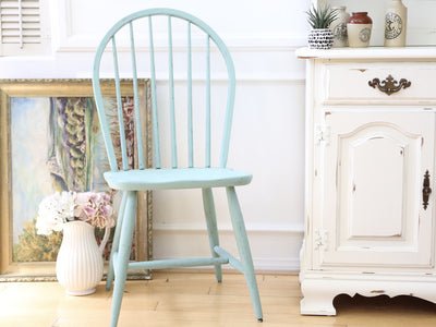 Shabby Chic Vintage Wood Chair in Teal Color 80 - ShopGoldenPineapple