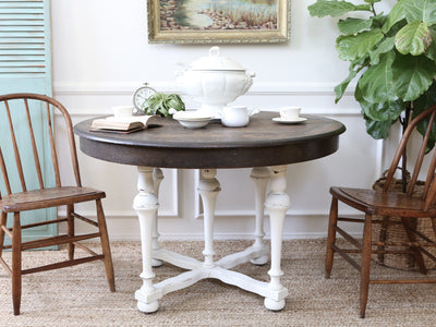 Shabby Chic Vintage Solid Wood Dining Round Table 153 - ShopGoldenPineapple