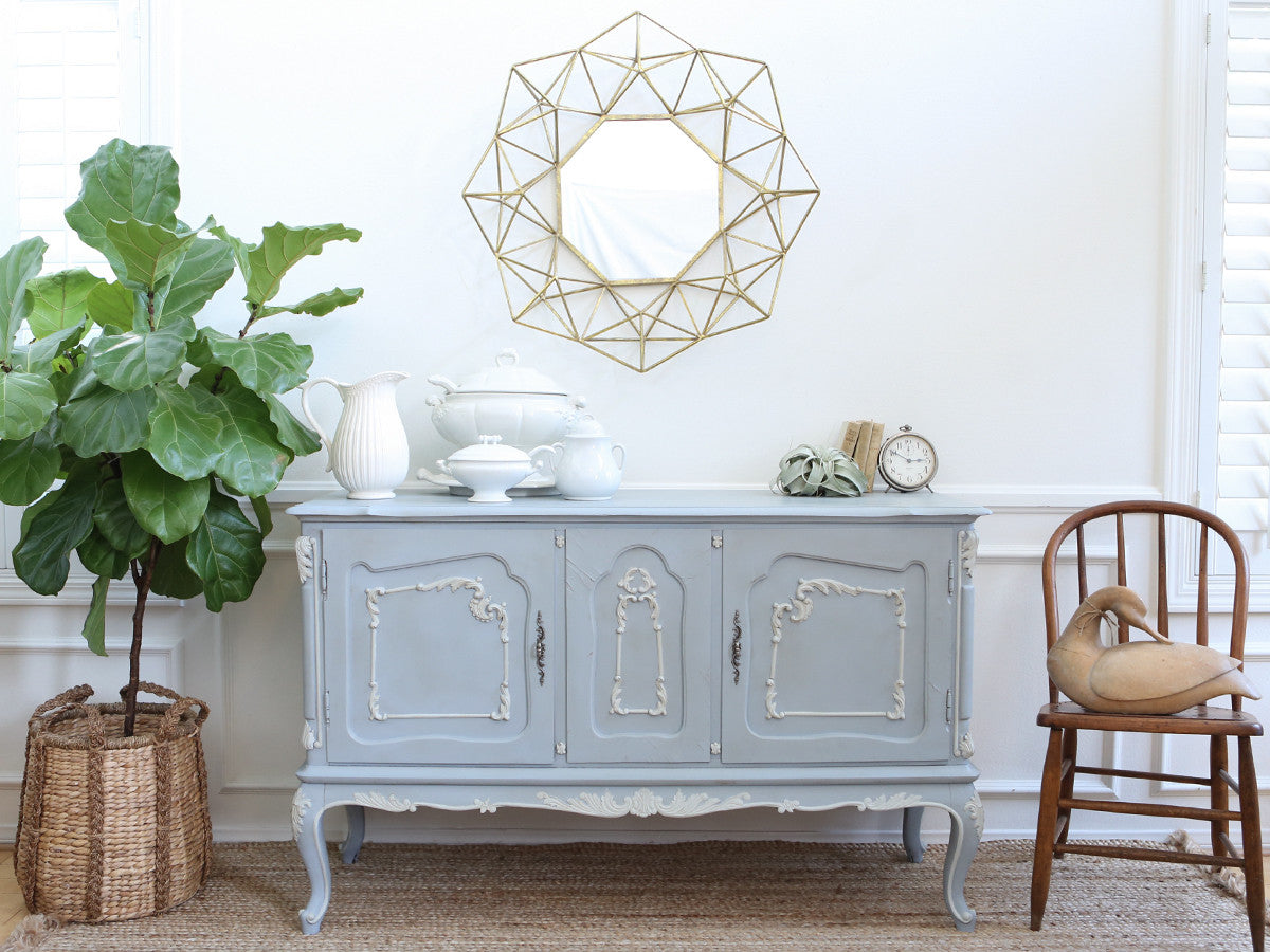 Shabby Chic Vintage French Provincial Buffet Sideboard Bar No166