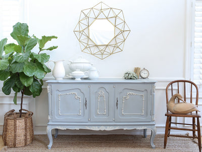 Shabby Chic Vintage French Provincial Buffet / SideBoard Bar No166 - ShopGoldenPineapple