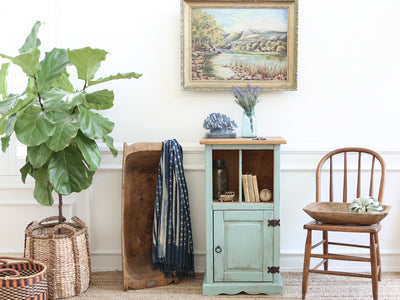 Shabby Chic BeachHouse Entreyway Cabinet / Table 167 - ShopGoldenPineapple