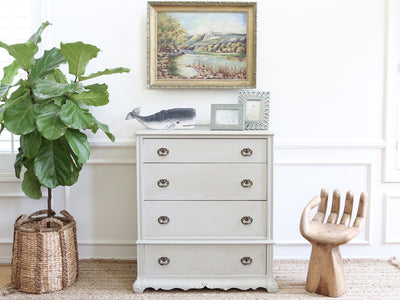 Shabby Chic French Provincial HighBoy Tall Dresser  No183 - ShopGoldenPineapple