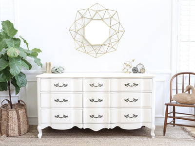 Shabby Chic French Provincial Vintage Dresser / Buffet Cabinet / Credenza No188 - ShopGoldenPineapple