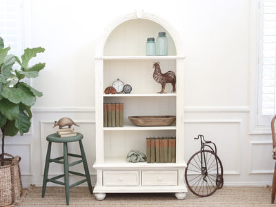 Shabby Chic French Provincial Vintage Book Shelf / Hutch No199 - ShopGoldenPineapple