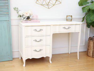 Shabby Chic French Provincial Vintage Vanity Desk / Writing Desk No121 - ShopGoldenPineapple