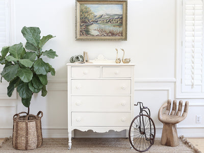 Shabby Chic French Provincial HighBoy Tall Dresser No210 - ShopGoldenPineapple