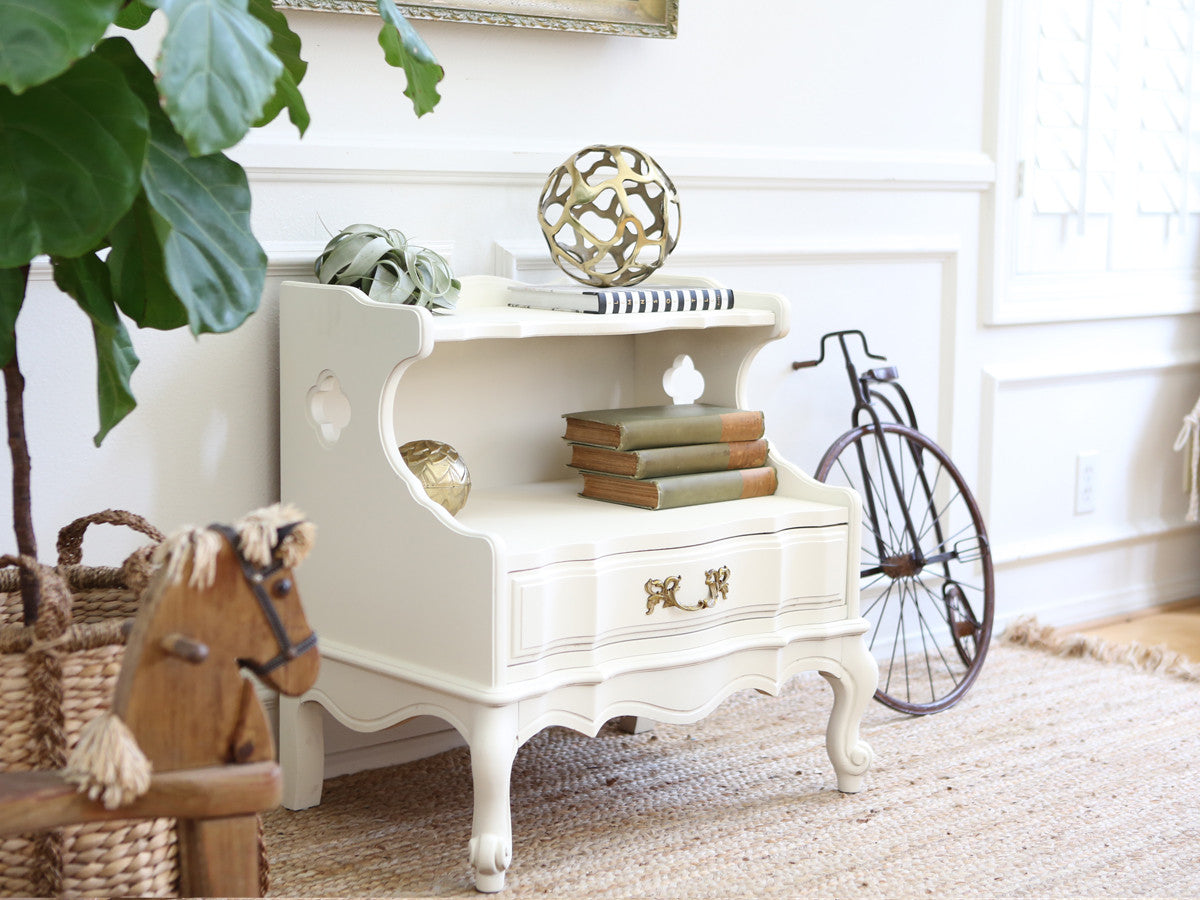 Shabby Chic French Provincial Vintage Night Stand / Side Table / End ...