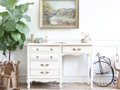 Shabby Chic French Provincial Vintage Vanity Desk / Writing Desk No229 - ShopGoldenPineapple