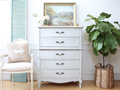 Shabby Chic French Provincial HighBoy Tall Dresser No246 - ShopGoldenPineapple