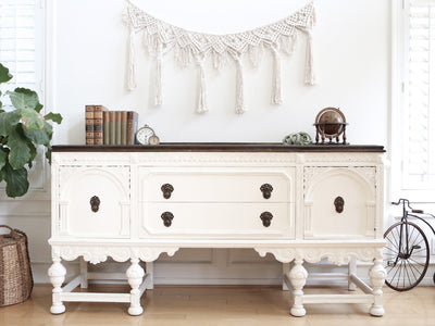 Berkey & Gay Over 100 Years Old Antique Shabby Chic Buffet Sideboard No248 - ShopGoldenPineapple