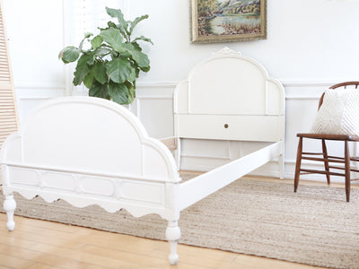 Twin Bed Shabby Chic Vintage Bed Frame by Huntley No253 - ShopGoldenPineapple