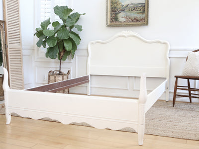 Shabby Chic French Provincial Vintage Bed Frame Full Size No255 - ShopGoldenPineapple