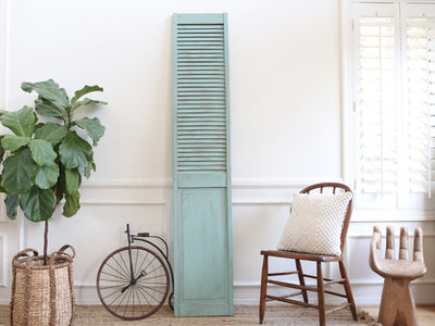 Shabby Chic Vintage Wood Shutter in Teal Color No264 - ShopGoldenPineapple