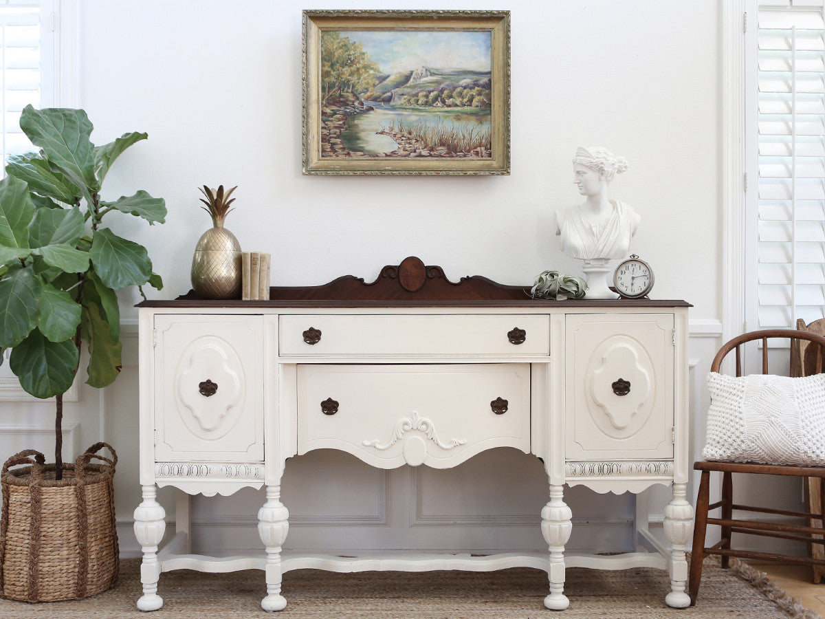 antique shabby chic buffet sideboard credenza buffet. Black Bedroom Furniture Sets. Home Design Ideas