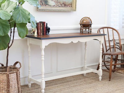 Vintage Shabby Chic wood finished Console Table / Entryway Table / SideBoard / Buffet No314 - ShopGoldenPineapple