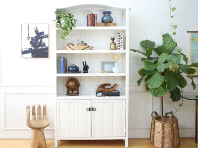 Shabby Chic Boho Chic Solid Wood Antique BookShelf / Hutch No324 - ShopGoldenPineapple