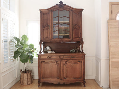 Antique English Cabinet Hutch over 100 years old Shabby Chic China Cabinet No 329 - ShopGoldenPineapple