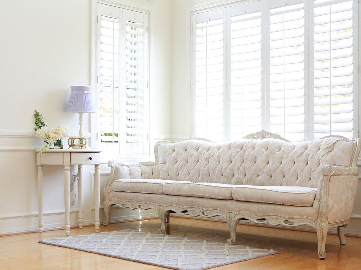 Shabby Chic French Provincial Vintage Long Sofa Couch No339