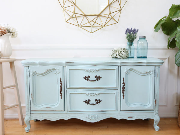 vintage shabby chic console table sideboard tv media stand no93 shopgoldenpineapple. Black Bedroom Furniture Sets. Home Design Ideas