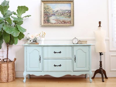 Vintage Shabby Chic Console Table / SideBoard / TV Media stand No 401 - ShopGoldenPineapple