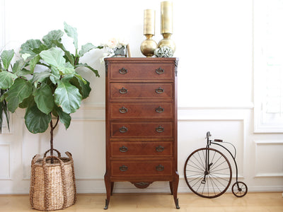 French Provincial Antique lingerie Dresser / Tall Dresser No 535 - ShopGoldenPineapple