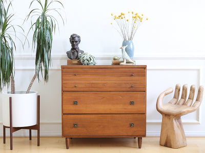 Mid Century Modern Three Drawer Chest / Cabinet No 561 - ShopGoldenPineapple
