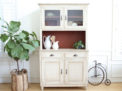 Farmhouse Rustic Cabinet Cupboards Hutch No 571 - ShopGoldenPineapple