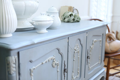 Shabby Chic Vintage French Provincial Buffet / SideBoard Bar No166
