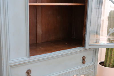 Berkey & Gay Antique Shabby Chic China Cabinet Curio No 626 - ShopGoldenPineapple