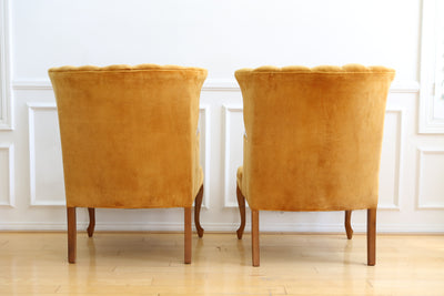 Vintage Velvet Chairs - A Pair No 629