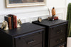 Vintage Classic Mid Century Modern Black Nightstands by United Furniture - A Pair No 636