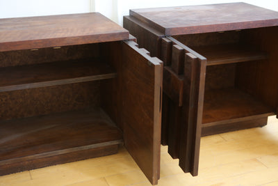 Mid-Century Brutalist Nightstands by Lane - A Pair No 613 - ShopGoldenPineapple