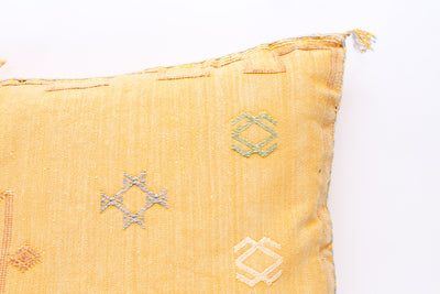 MOROCCAN SABRA CACTUS SILK PILLOW Double Sided LUMBAR No T730 - ShopGoldenPineapple