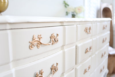 Shabby Chic French Provincial Vintage Dresser / Buffet Cabinet / Credenza No176 - ShopGoldenPineapple