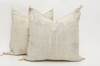 Moroccan Sabra Cactus Silk Pillow Cover - a Pair No T750p - ShopGoldenPineapple