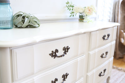 Vintage Shabby Chic French Dresser / Credenza with 6 drawers No186 - ShopGoldenPineapple