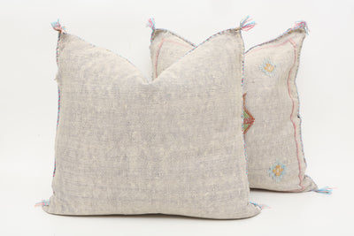 Moroccan Sabra Cactus Silk Pillow Cover - a Pair No P755p - ShopGoldenPineapple