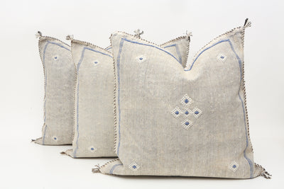 Moroccan Sabra Cactus Silk Pillow Cover - Set of Three No T757p - ShopGoldenPineapple