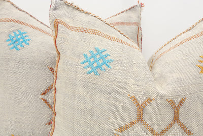 Moroccan Sabra Cactus Silk Pillow Cover - a Pair No P758p - ShopGoldenPineapple