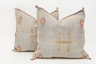 Moroccan Sabra Cactus Silk Pillow Cover - a Pair No P760p - ShopGoldenPineapple