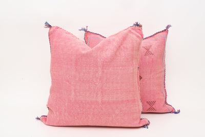 Moroccan Sabra Cactus Silk Pillow Cover - a Pair No P763p - ShopGoldenPineapple