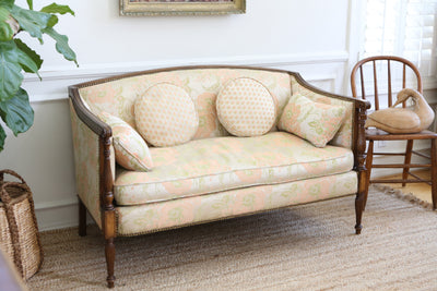French Provincial Sofa / Loveseat with Cushions No320 - ShopGoldenPineapple